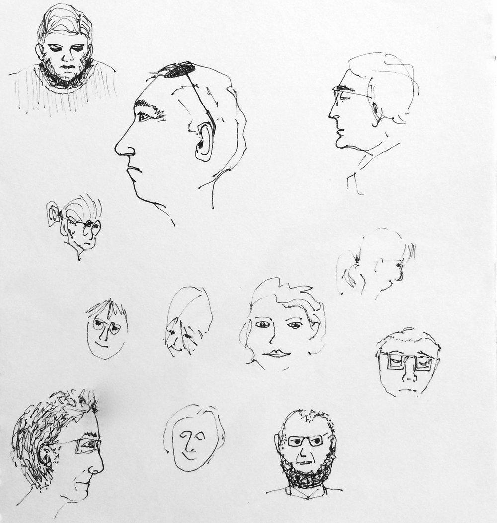Sketchbook Faces I