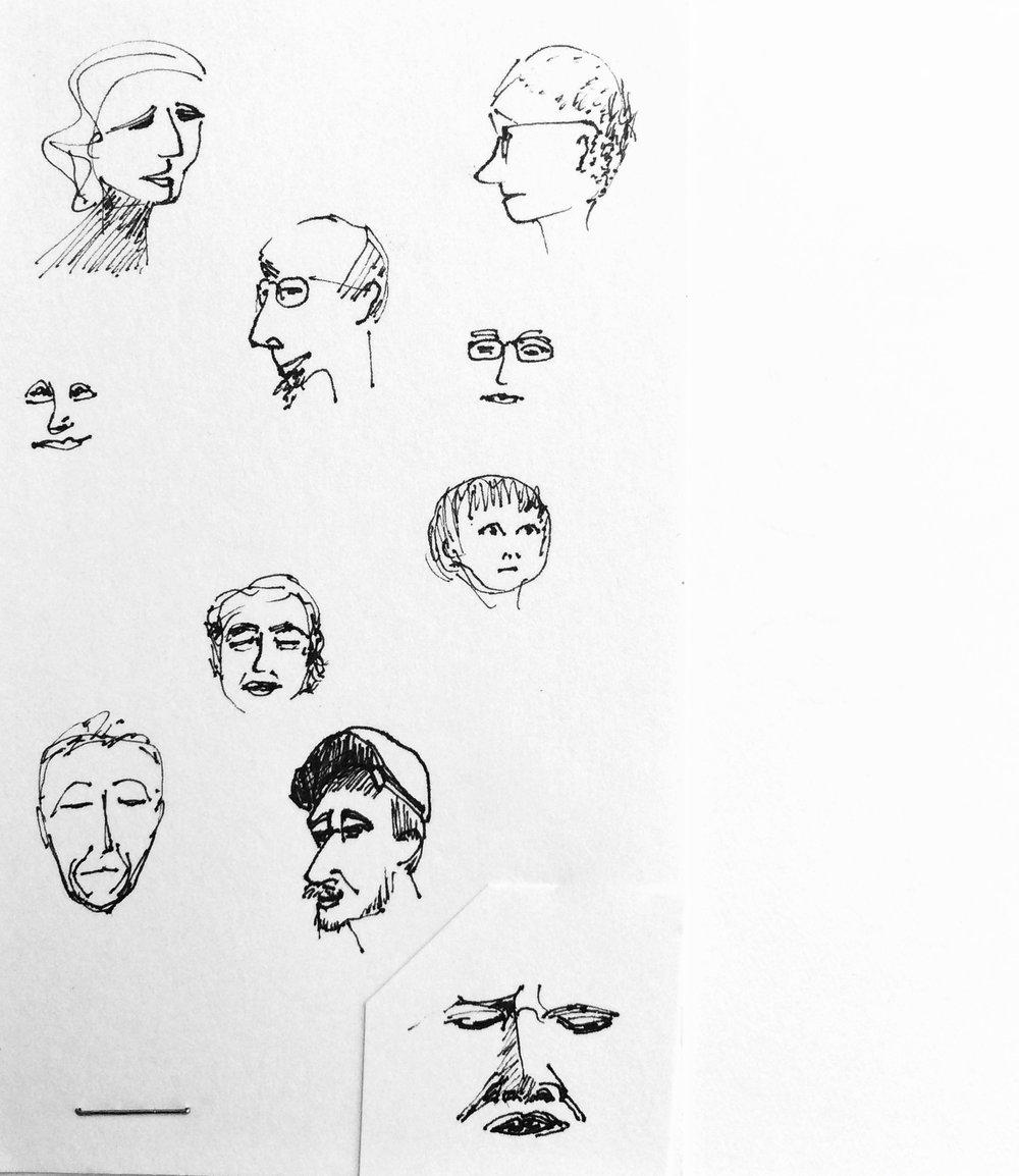 Sketchbook Faces IV