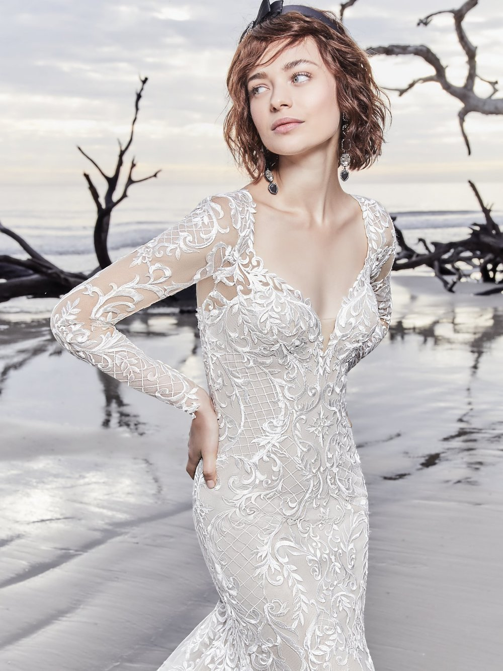 Long Sleeve Wedding Dresses | Inventory # 02307 | available at Bride To Be Couture | 6040 Fair Oaks Blvd. Carmichael, CA 95608 | 916.972.8223 | @bridetobecouture