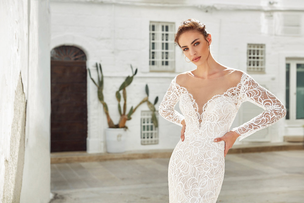 Sexy Long Sleeve Wedding Dresses | Inventory # 02067 | available at Bride To Be Couture | 6040 Fair Oaks Blvd. Carmichael, CA 95608 | 916.972.8223 | @bridetobecouture