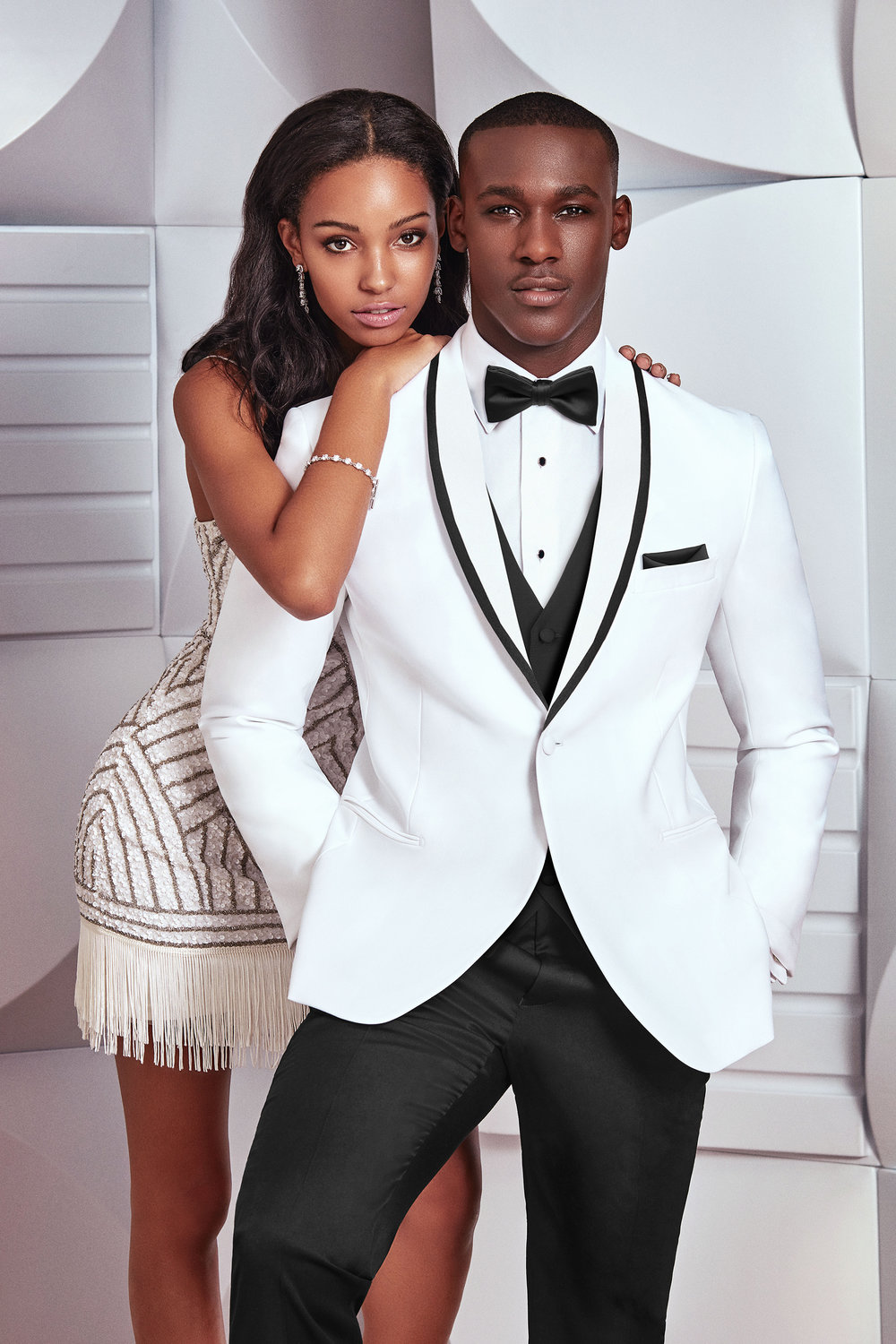 Formal White Tuxedo | available at Bride To Be Couture | 6040 Fair Oaks Blvd. Carmichael, CA 95608 | 916.972.8223 | @bridetobecouture