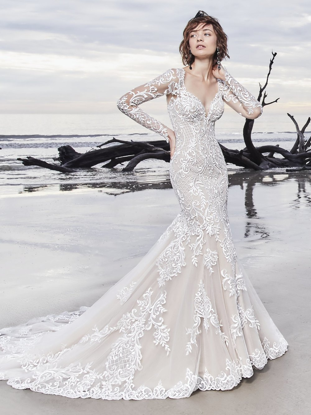 LONG SLEEVE WEDDING DRESSES - From delicate illusion lace detailing, to glamorous hand beading, sleeves add a touch of luxury to your wedding gown for an unforgettable bridal look.
