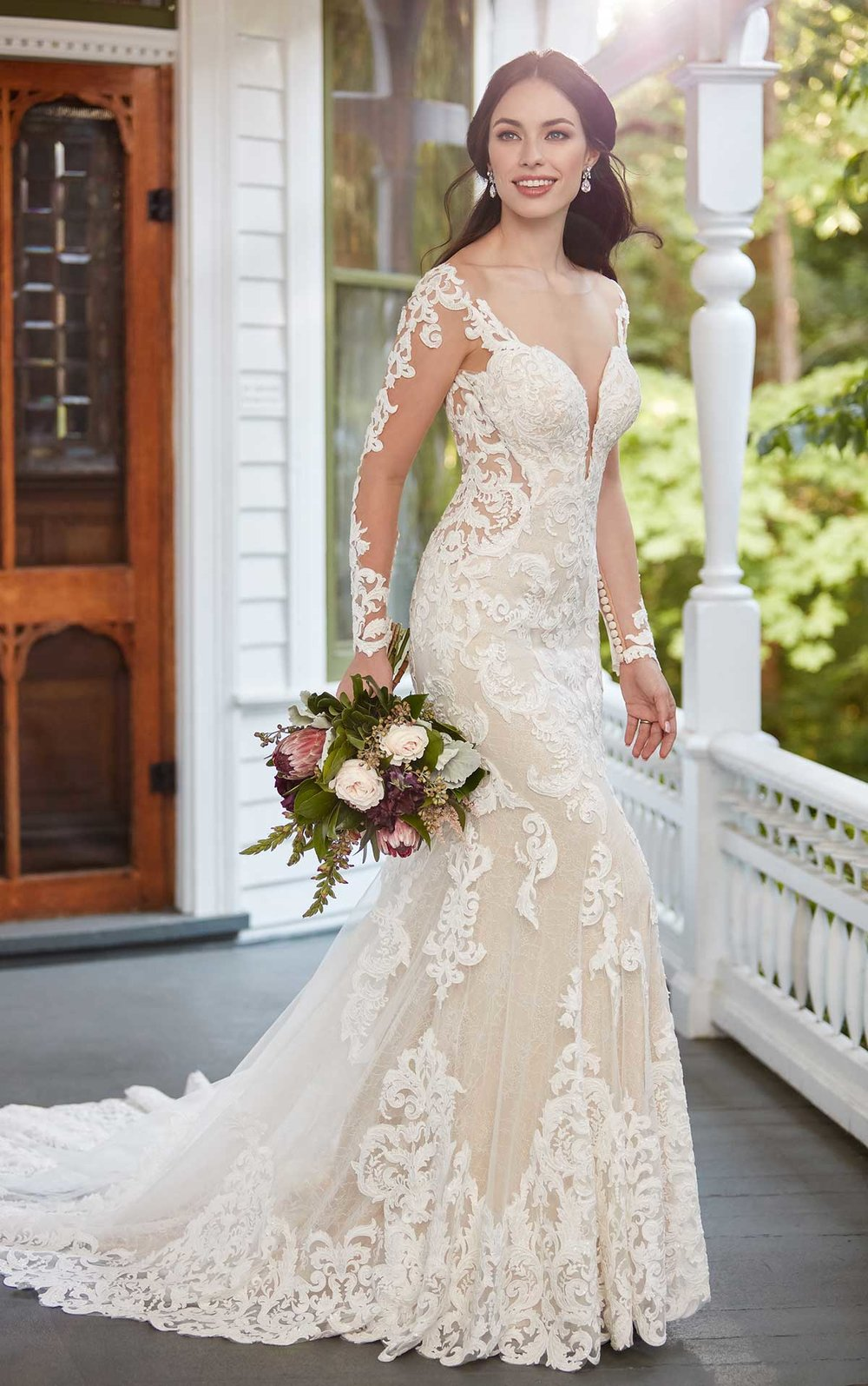 Wedding Dresses with Sleeves | Inventory # 01154 | available at Bride To Be Couture | 6040 Fair Oaks Blvd. Carmichael, CA 95608 | 916.972.8223 | @bridetobecouture