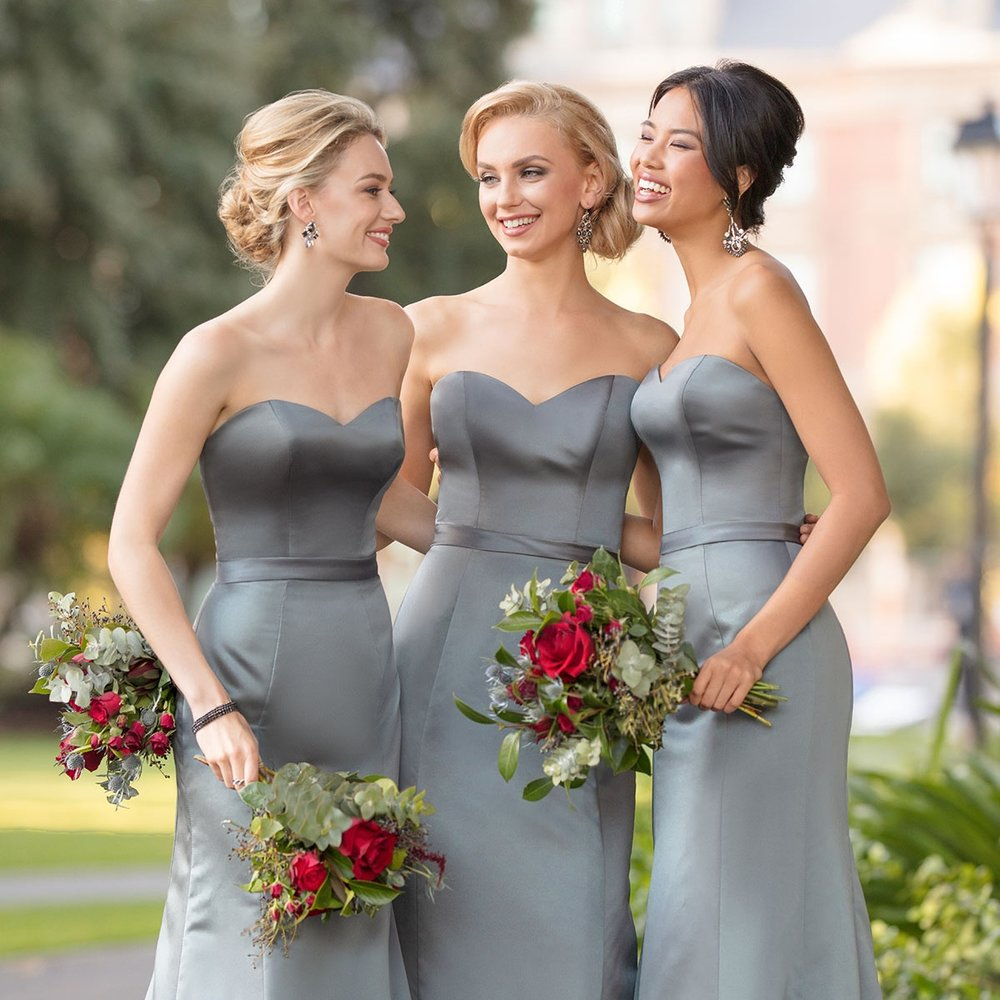Bridesmaids Appointment - Duration: 60 minutesBrowse through our inventory of hundreds of designer bridesmaids dresses, and speak to our stylists to find the perfect look for your entourage.READ OUR BRIDESMAIDS FAQ'sGET INSPIRED