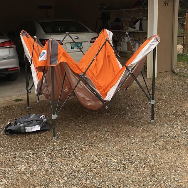 Having a garage sale today at 37 Blue Mule Drive in Edgewood. Featuring 10x10 EzUp tent and cases of craft soda. Come out and see what we have to offer. All sales negotiable!
