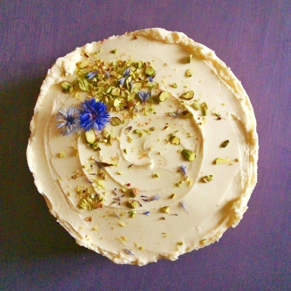 courgette, pistachio & lemon cake