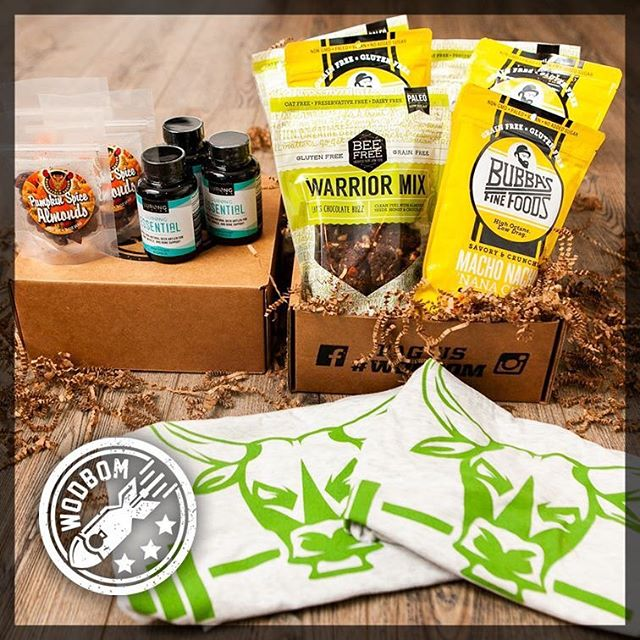 We are incredibly honored to be a part of the @wodbom family! Please check out their monthly subscriber boxes! They do an amazing job filling them with quality products to help you crush your wod! #wodbom #iamstronglikebull #wod #crossfit #crossfitlife #yoga #health #plantbased #weightlifting #powerlifting