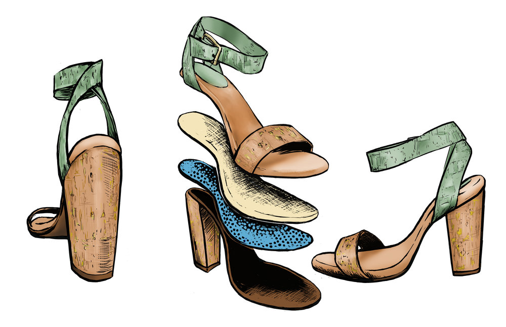 Shoe Design Illustration