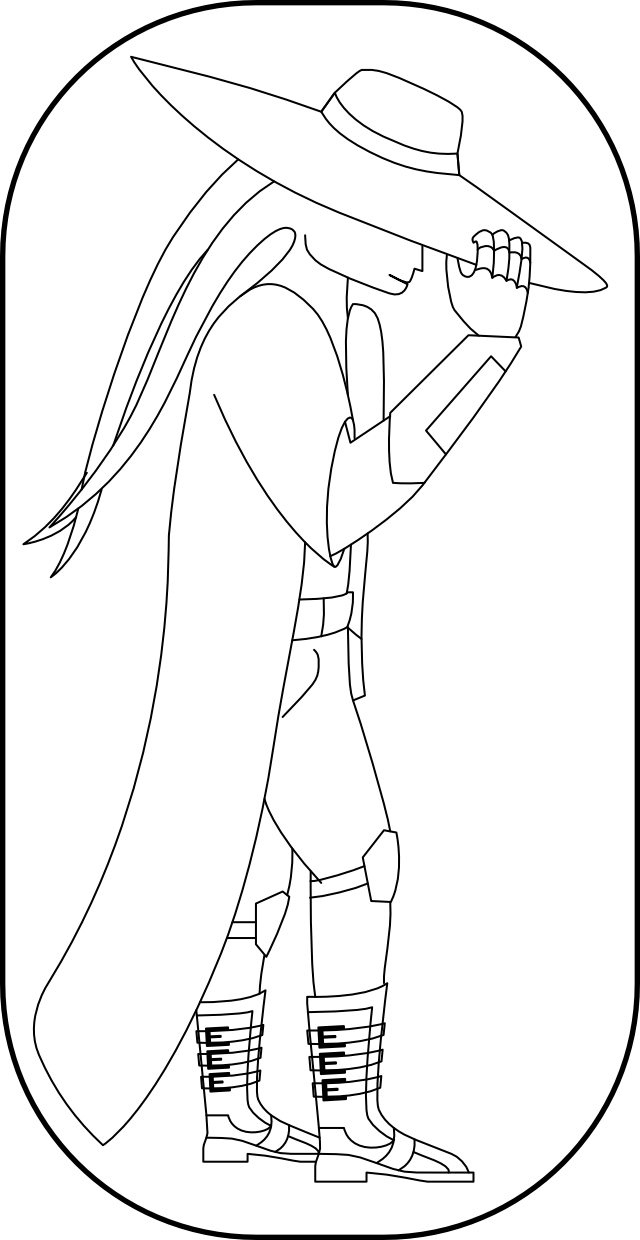 Vectorised version of the Hand drawn image