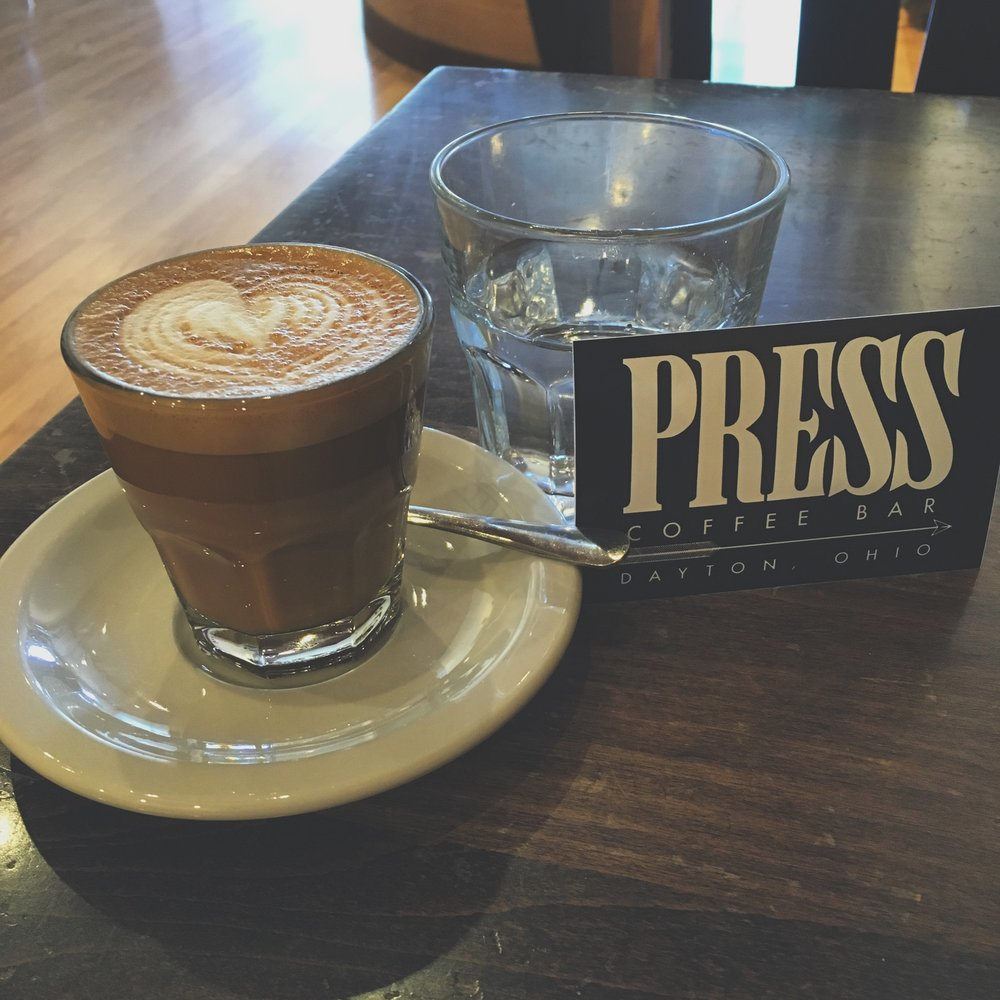 press coffee bar dayton ohio