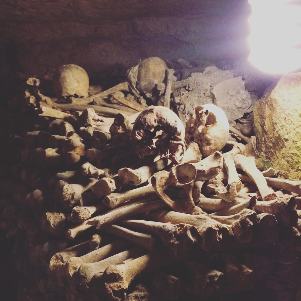 Paris France Catacombs Macabre Bones Ossuary