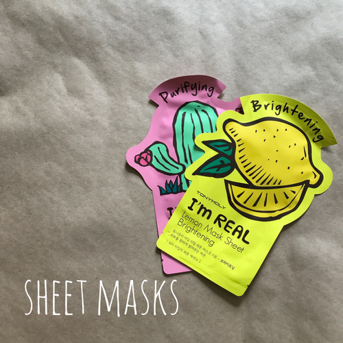 women's travel essential sheet masks