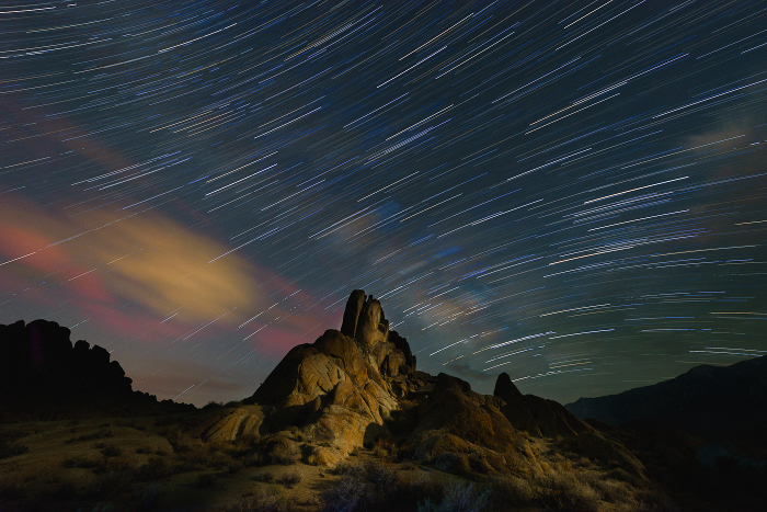 Alabama Hills Star Trails   by Jim Long awarded Honorable Mention in Photo-Realistic