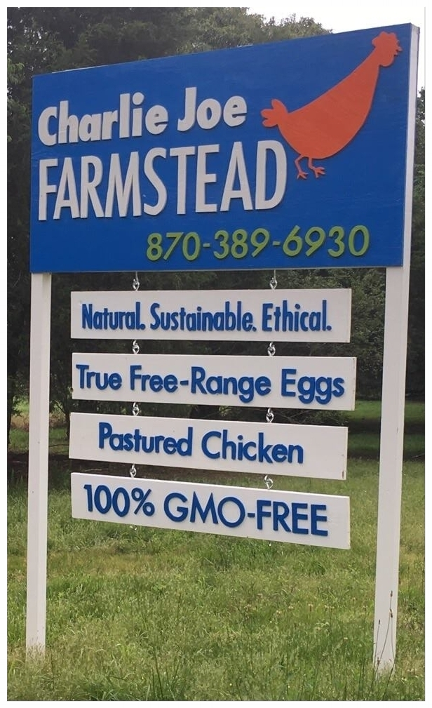 Look for this big blue sign. That's us. - It's right there on Hwy 71 S. Driving north?We're on the right. Driving south? We'll be on the left.After you turn in, there's a long driveway - when it splits, go right towards the green barn. You can't miss it. And if you're feeling bold, go ahead and lay on your car-horn when you're driving up - sometimes it might be difficult to see or hear you from wherever we are working that day, so don't be shy.