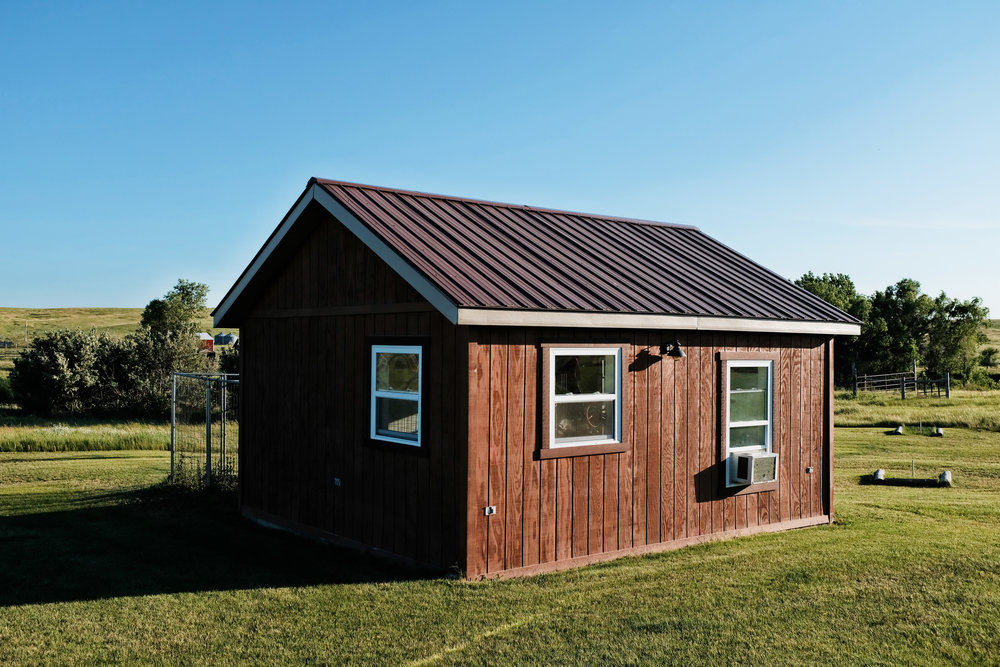 Our kennel has 3 seperate units with 5.6 interior with doggie doors.