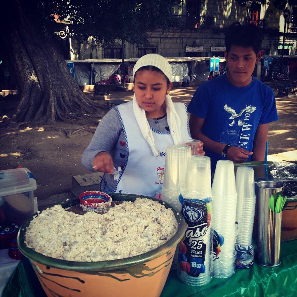 Tejate in Oaxaca
