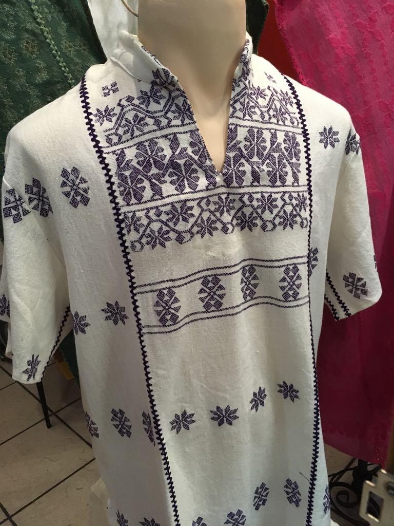 Men's Oaxacan shirt, blue - $125