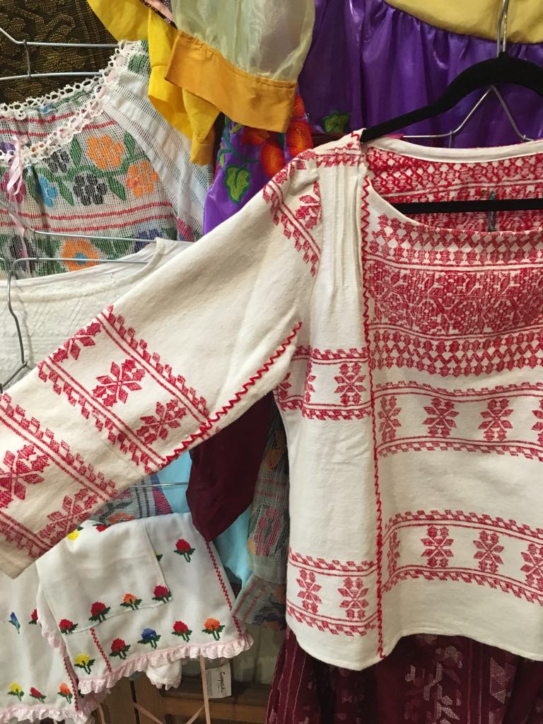 Women's Oaxacan Shirt, detail - $175