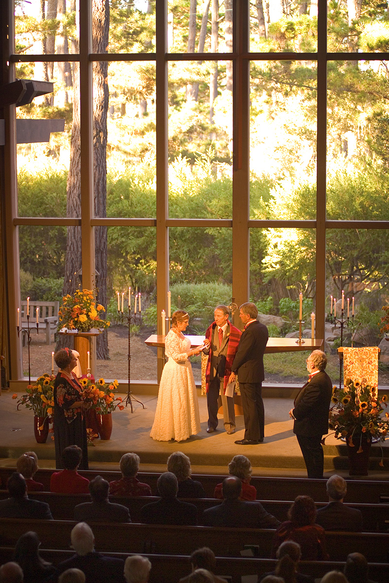 Pebble Beach Wedding, Church in the Forest Wedding