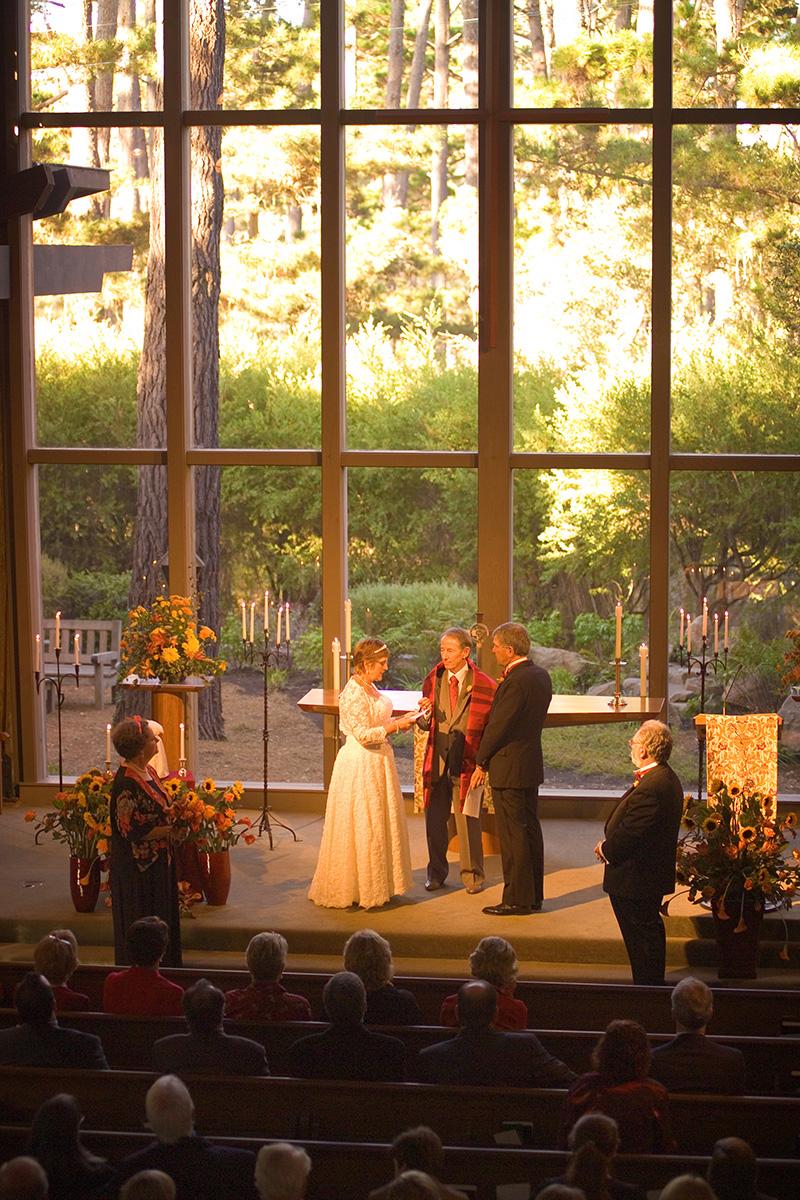 Pebble Beach Wedding, Church in the Forest Wedding
