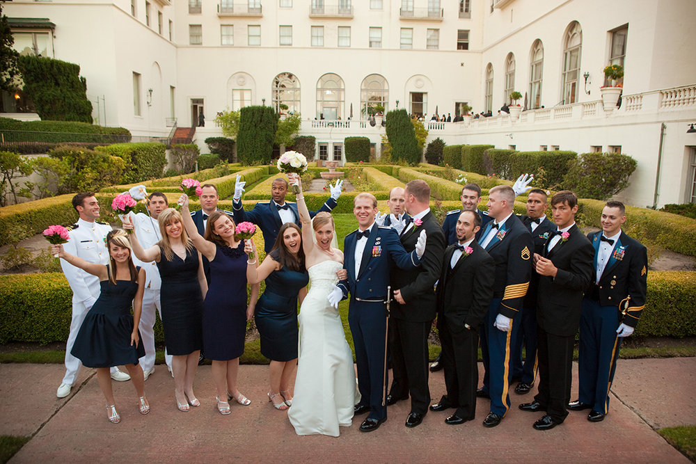 Monterey Wedding, Naval School Wedding, Wedding Party