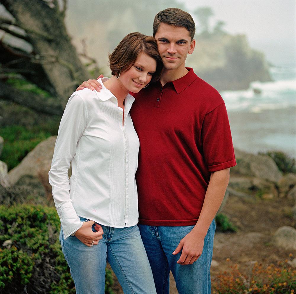 Engagement Portrait, Point Lobos, Carmel Valley Wedding