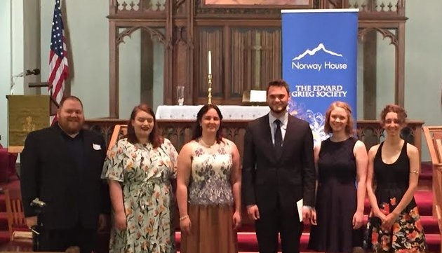 - Winners of the 2018 Edvard Grieg Society of Minnesota's Voice Competition: From left, Thore Dosdall, Elsa Swanson, Anika Kildegaard, Harrison Hintzsche, Greta Ramsey, and Froya Olson.