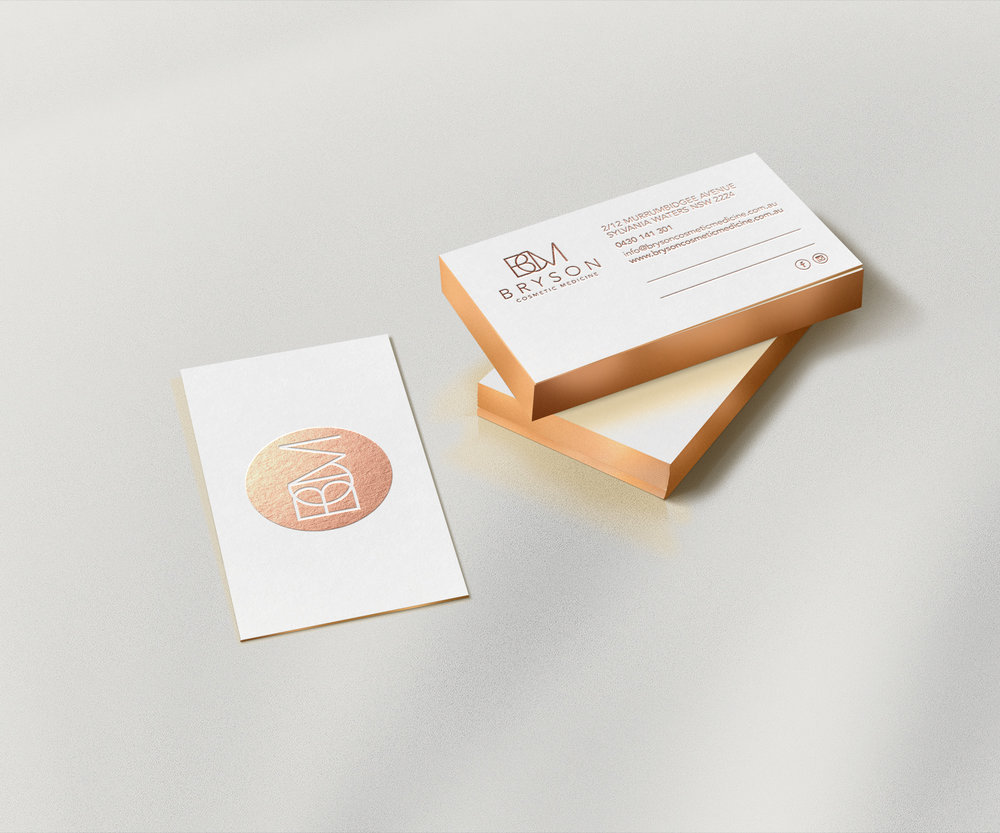 Bryson Cosmetic Medicine - business cards