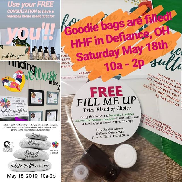 The Holistic Health Fair is this Saturday folks..you do not want to miss out!  Goodies bags🛍, yoga🧘♀️, Access Bars💆♀️ and more..oh my😮  950 Webster Street Defiance Ohio  10a - 2p (yoga at 8am) $5 entry fee