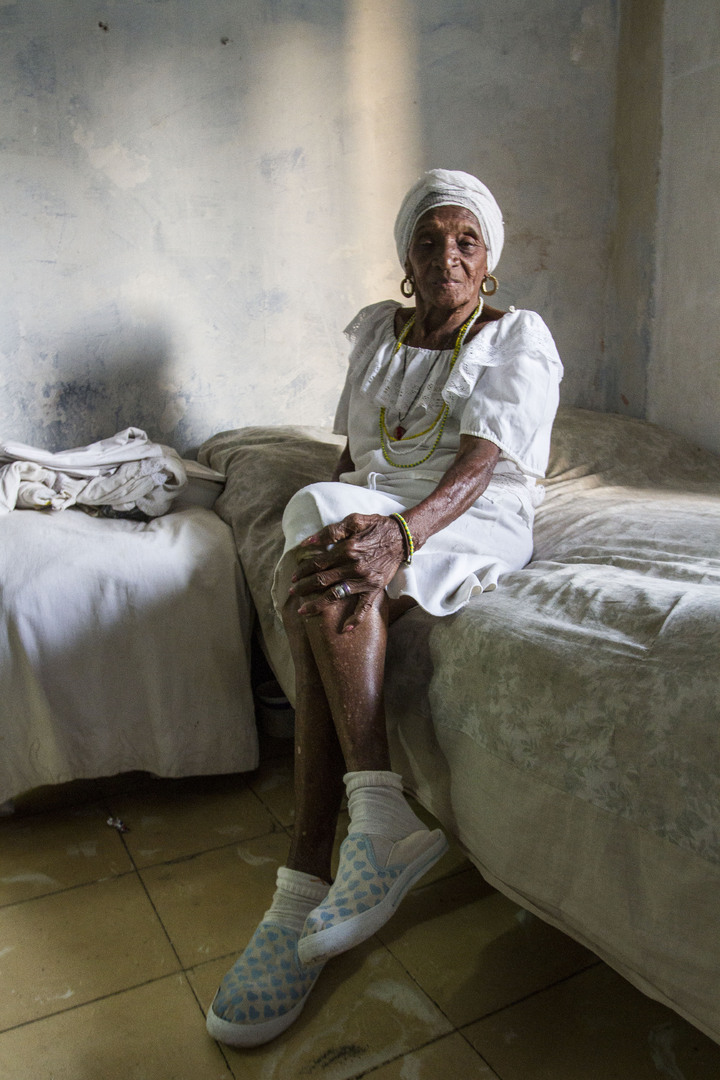 Elderly woman in Cuba