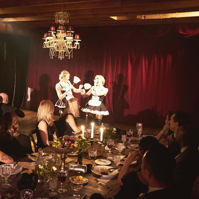 Contagious giggles for everyone • • • #cabaret #1920s #theater #frenchmaids #nightout #datenight #thingstodoinla #happeningindtla #losangeles