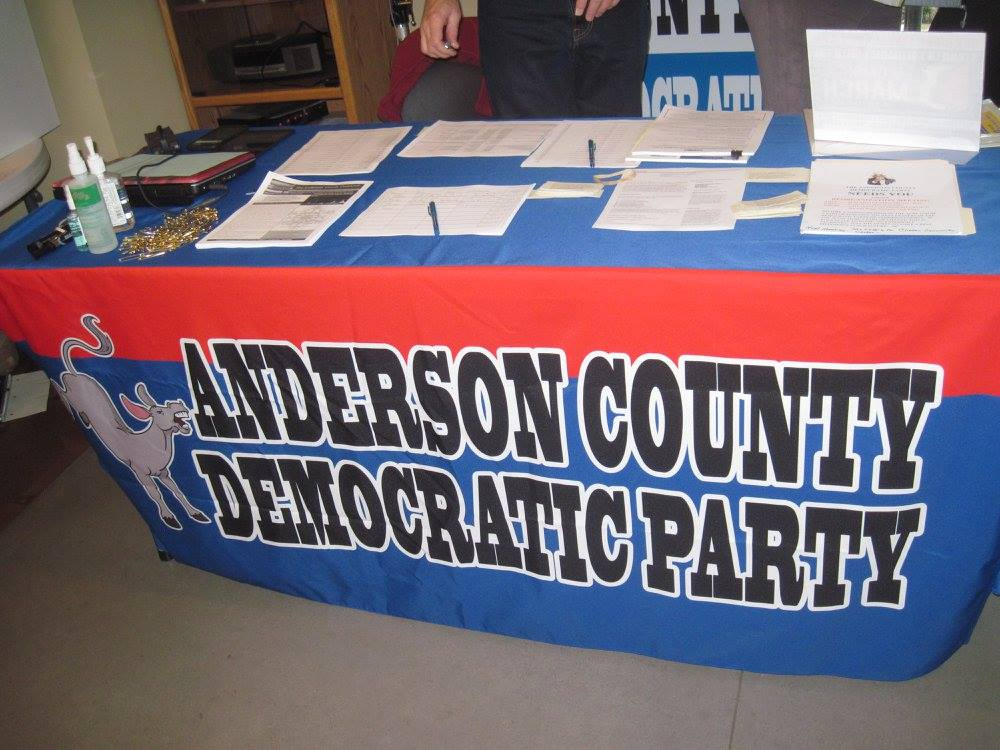 Donate - Anderson County Democratic Party (ACDP) organizes Democrats in our county and provides support to candidates in their election process.  We provide technical support, data, volunteers, a headquarters, and other material and non-material support.   Republicans have the advantage of outside money funding many of their candidates.  We do not have any outside money - all donations come from Anderson County and are spent in Anderson County.