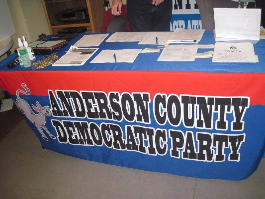 Anderson County Democratic Party (ACDP) organizes Democrats in our county and provides support to candidates in their election process. We provide technical support, data, volunteers, a headquarters, and other material and non-material support.  Republicans have the advantage of outside money funding many of their candidates. We do not have any outside money - all donations come from Anderson County and are spent in Anderson County.