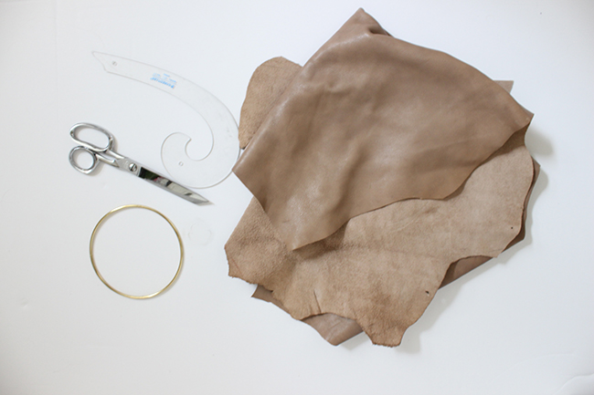 DIY Round Leather Bag Supplies