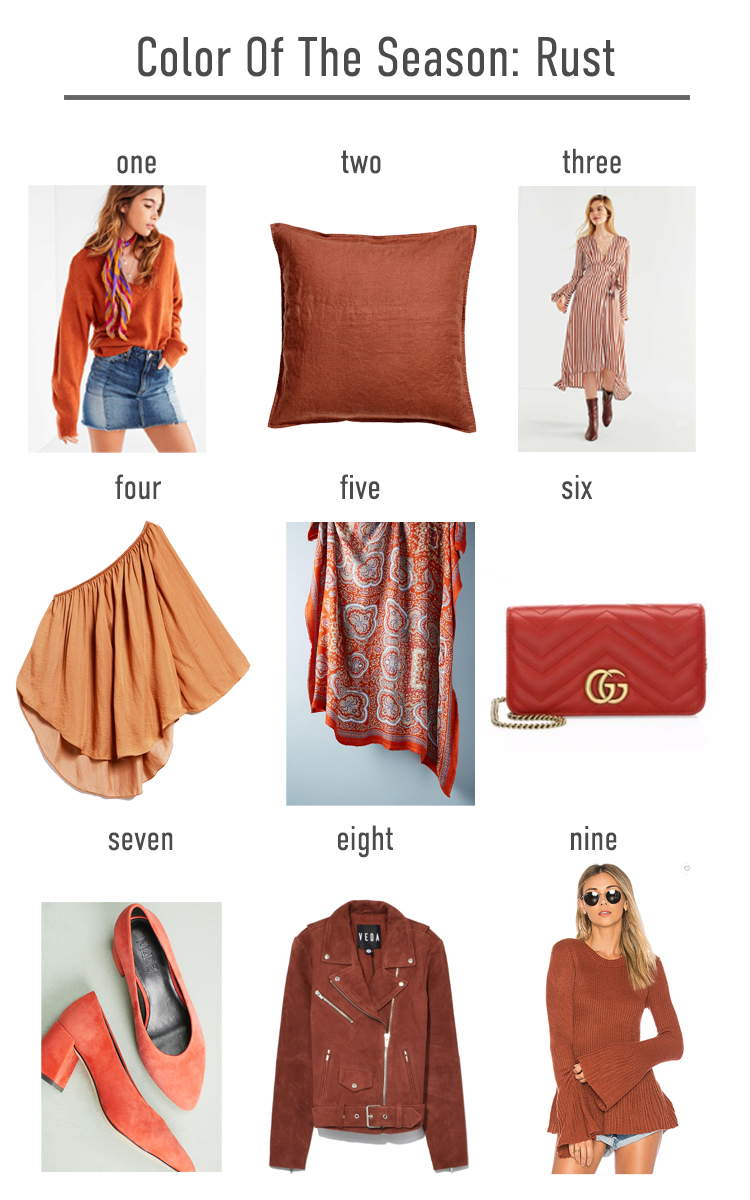 Color of the fall: Rust