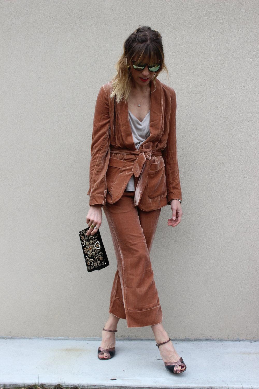velvet suit