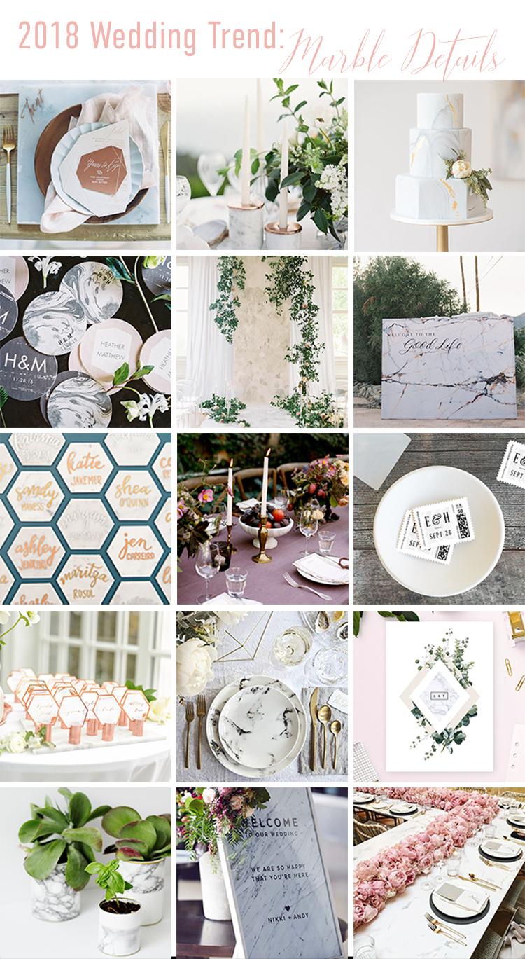 2018 Wedding Trend: Marble