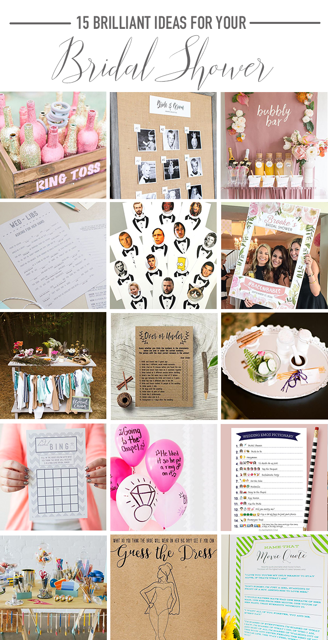 Bridal Shower Activity Ideas