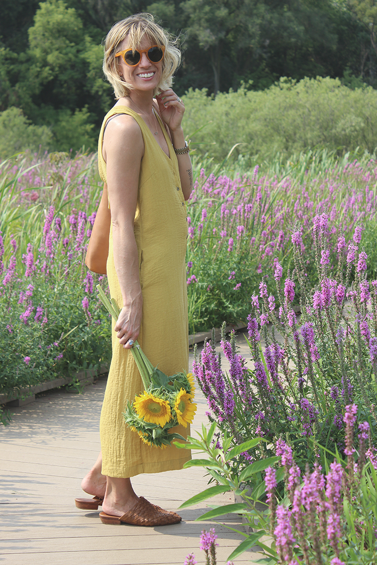 Yellow Linen Jumpsuit