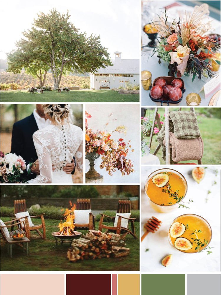 Cozy September Wedding Mood Board