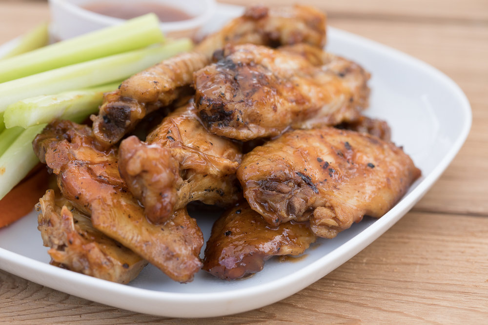Wings with Carrots and Celery