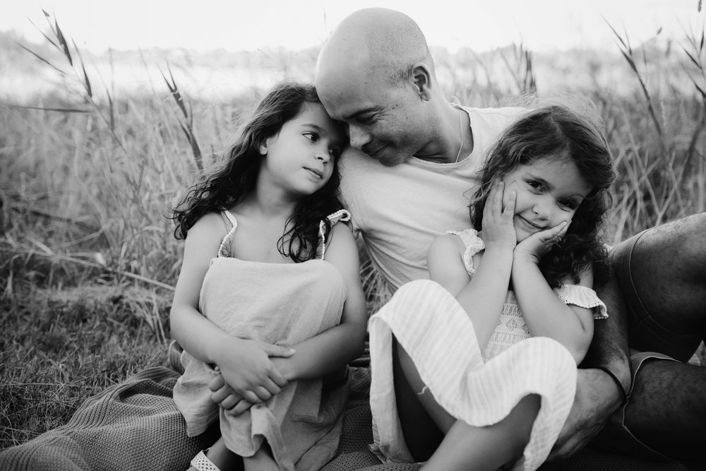 Hubby and his girls!