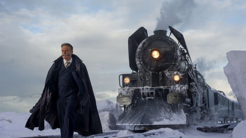 Kenneth Branagh's majestic mustache leads a train to nowhere.