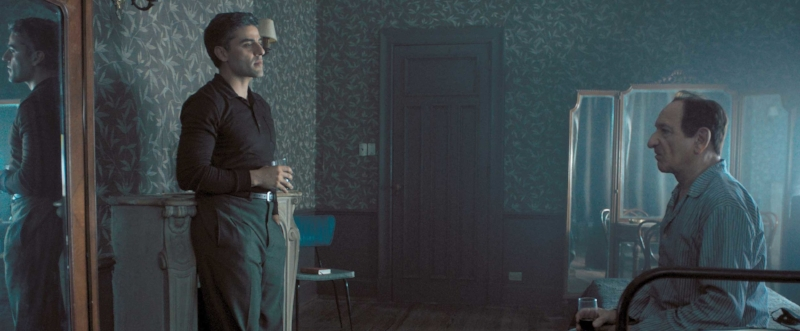 Drinking with the enemy: Ben Kingsley's Adolf Eichmann tries to reason with his captor (Oscar Isaac).