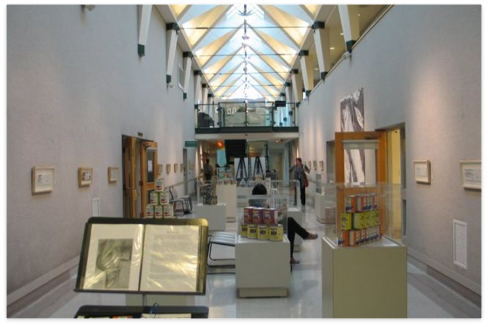 The Atrium space where we were allocated to display our Works.