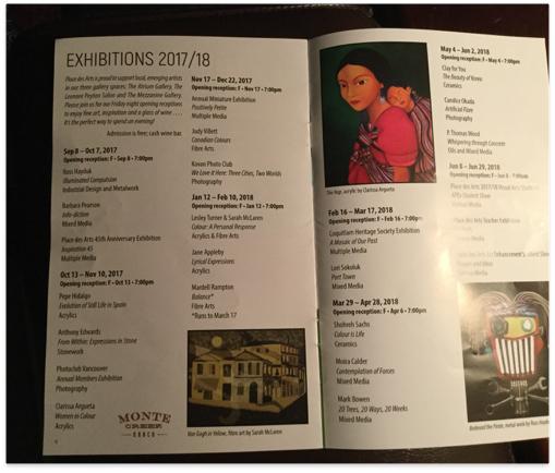 It's official! Place des Arts pamphlet.