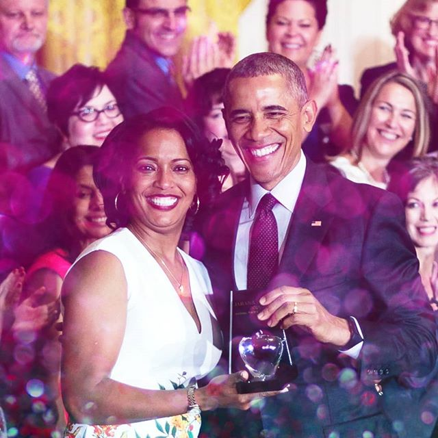 Jahana Hayes: 2016 National Teacher of the Year and MAYBE your next Congresswoman in Connecticut. She won her primary last week!