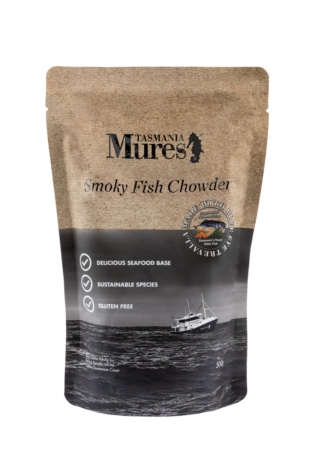 Smoky Fish Chowder  500g Convenient base to a gourmet meal Shelf life: 24 months