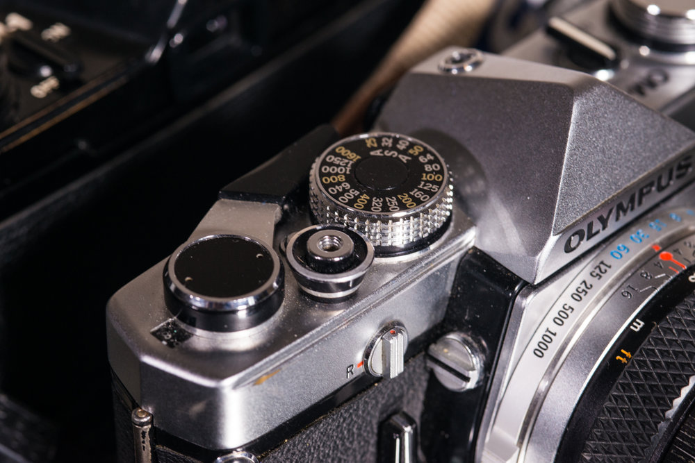 The ASA dial rests on the top plate, an interesting departure from traditional camera design.