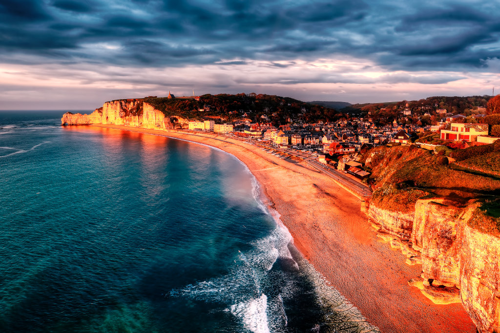 Etretat Golden Hour Panorama Version 1
